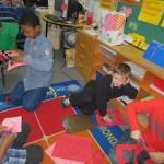 Randels Buddies Work Together to Make Valentine's Day Wreaths