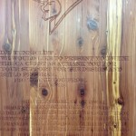 Students in the CA High School's first Design and Build class Produce a Plaque