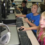 3rd grade Dillon students in the computer Lab learning on Success Maker