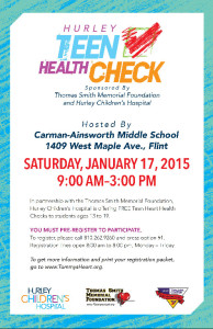 Hurley Health Check Flyer 2015